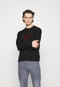 Calvin Klein - TONE ON TONE - Sweatshirt - black - 0