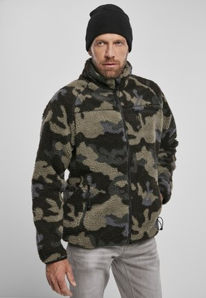 Fleece jacket - darkcamo