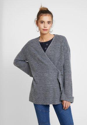 YASOWIRALA CARDIGAN - Cardigan - medium grey melange