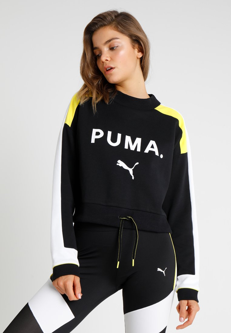 Puma - CHASE CREW - Long sleeved top - black