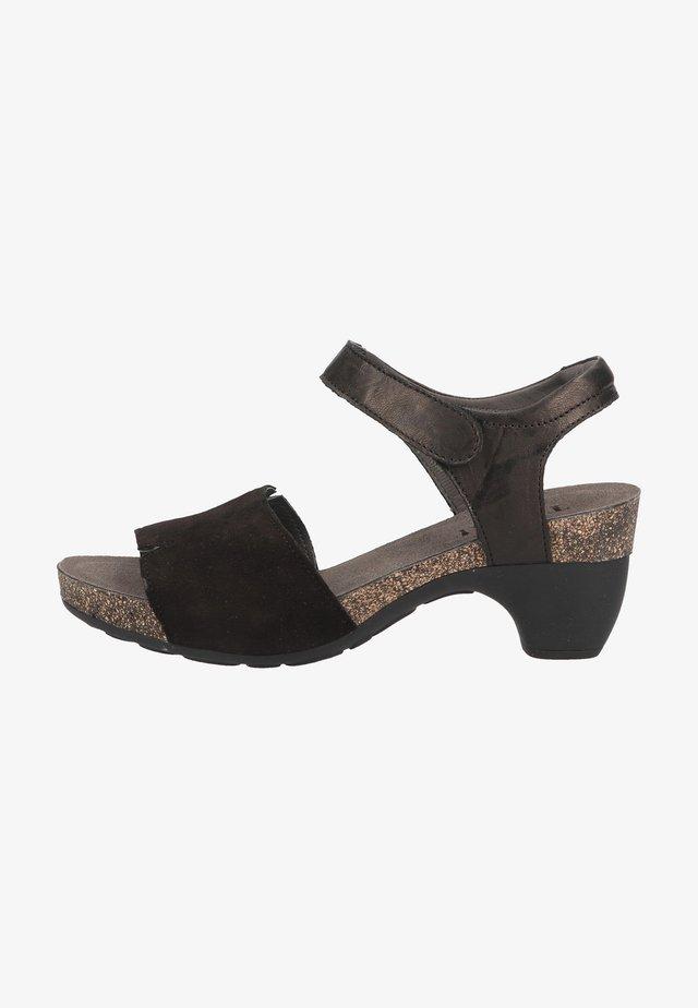 Sandalen met plateauzool - sz/kombi