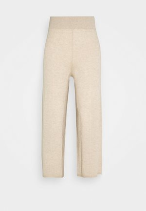 LOOSE FIT PANTS - Trousers - oatmeal