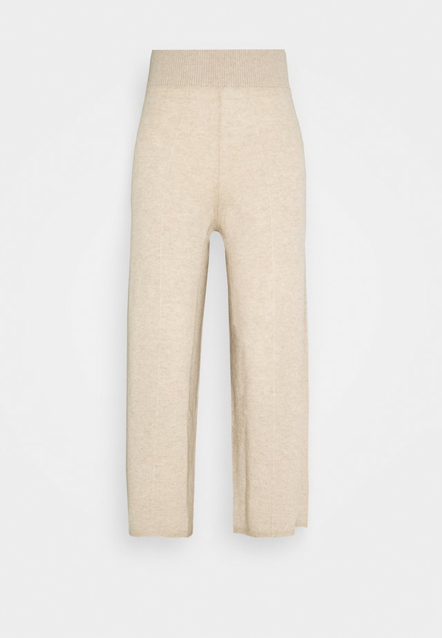 LOOSE FIT PANTS - Tygbyxor - oatmeal