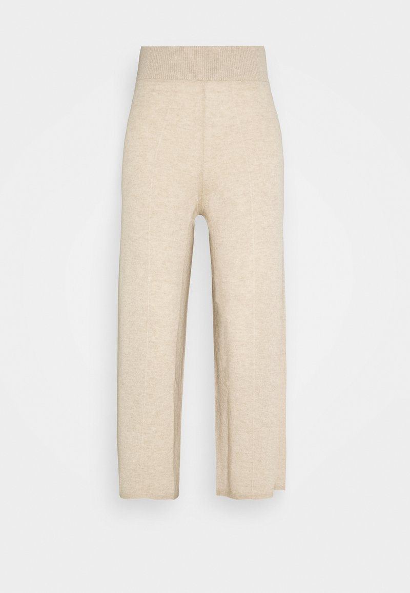 pure cashmere - LOOSE FIT PANTS - Pantalones - oatmeal
