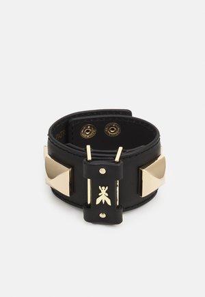 BRACCIALE CON BORCHIE - Bracelet - nero/gold