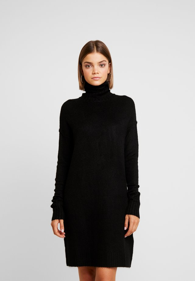 VMLUCI ROLLNECK DRESS - Neulemekko - black