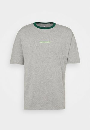 WORDMARK OVERSIZED TEE - T-Shirt print - mottled grey