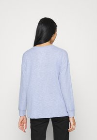 American Eagle - STITCHED HENLEY PLUSH - Long sleeved top - blue - 2