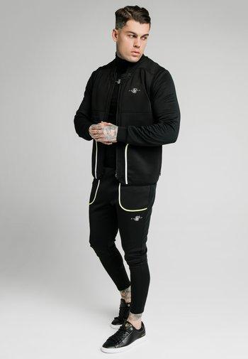 Waistcoat - black & fluro white