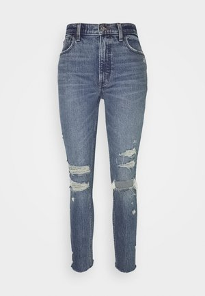 HIGH RISE - Jeans Skinny Fit - dark destroy