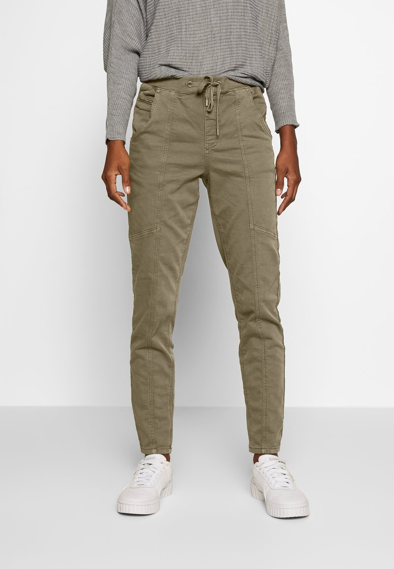 Cream - ROSITA - Trousers - khaki
