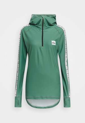 ICECOLD ZIP HOOD - Long sleeved top - green