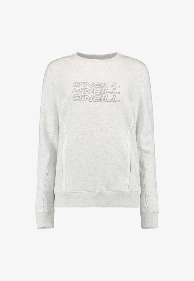 Sweatshirt - white melee