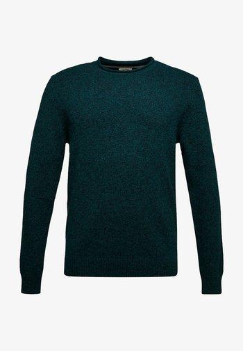 Stickad tröja - dark green