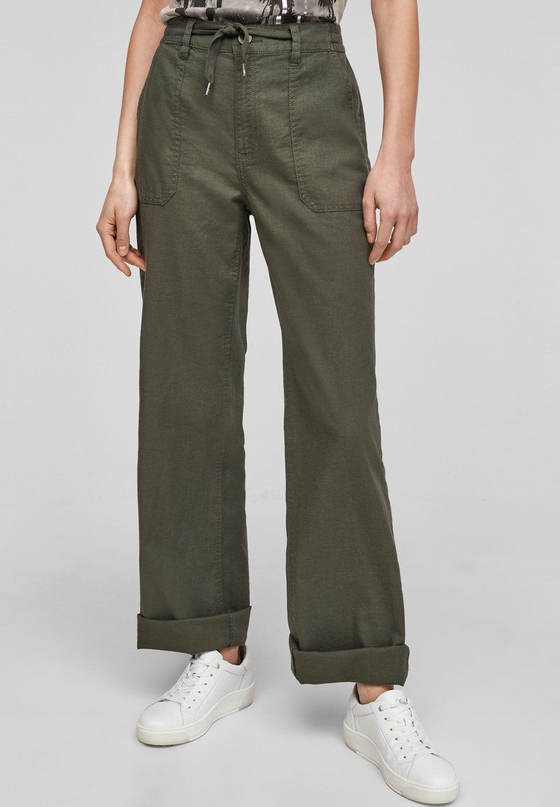 QS by s.Oliver - Trousers - khaki