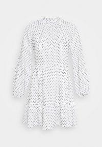 HIGH COLLAR MINI DRESS - Day dress - ivory