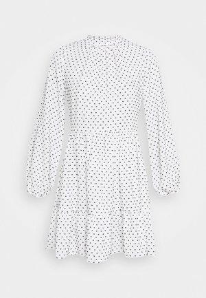 HIGH COLLAR MINI DRESS - Vestido informal - ivory