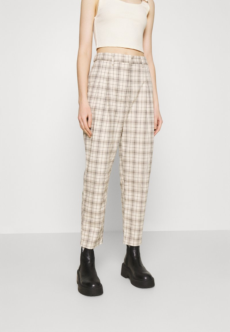Monki - TYRA TROUSERS - Trousers - mini grid