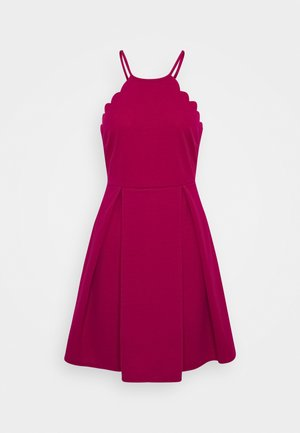 SCALLOP NECK SKATER DRESS - Vestido de cóctel - magenta