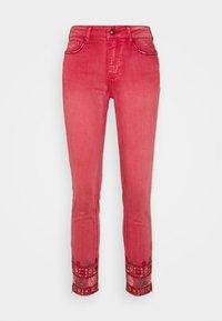 Desigual - PANT DELFOS - Slim fit jeans - red - 6