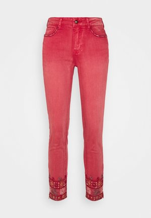 PANT DELFOS - Slim fit -farkut - red