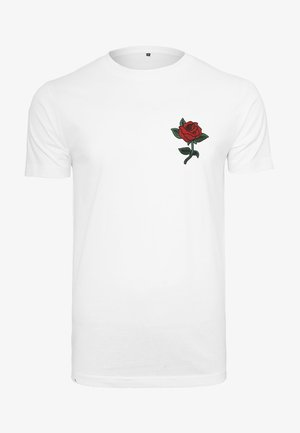 ROSE TEE - Print T-shirt - white
