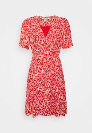SAFFRON PRINTED MINI SUN DRESS - Day dress - scarlet ditsy