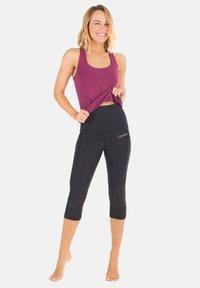 Winshape - HWL202 SCHWARZ HIGH WAIST- 3/4 SPORTHOSE - 3/4 sports trousers - schwarz - 0