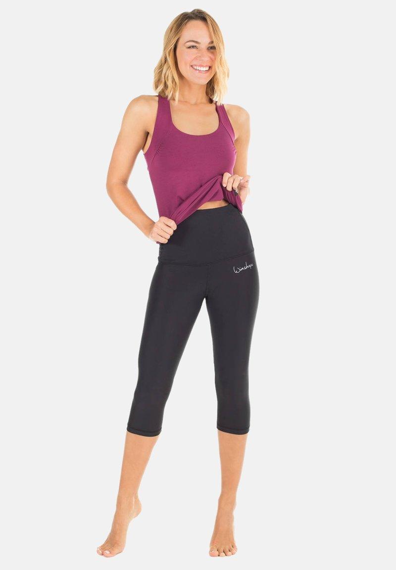 Winshape - HWL202 SCHWARZ HIGH WAIST- 3/4 SPORTHOSE - 3/4 sports trousers - schwarz