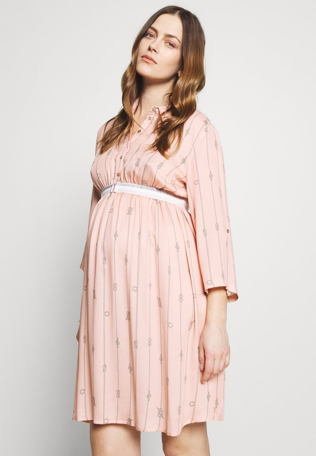TO THE SEA - Shirt dress - smoky pink