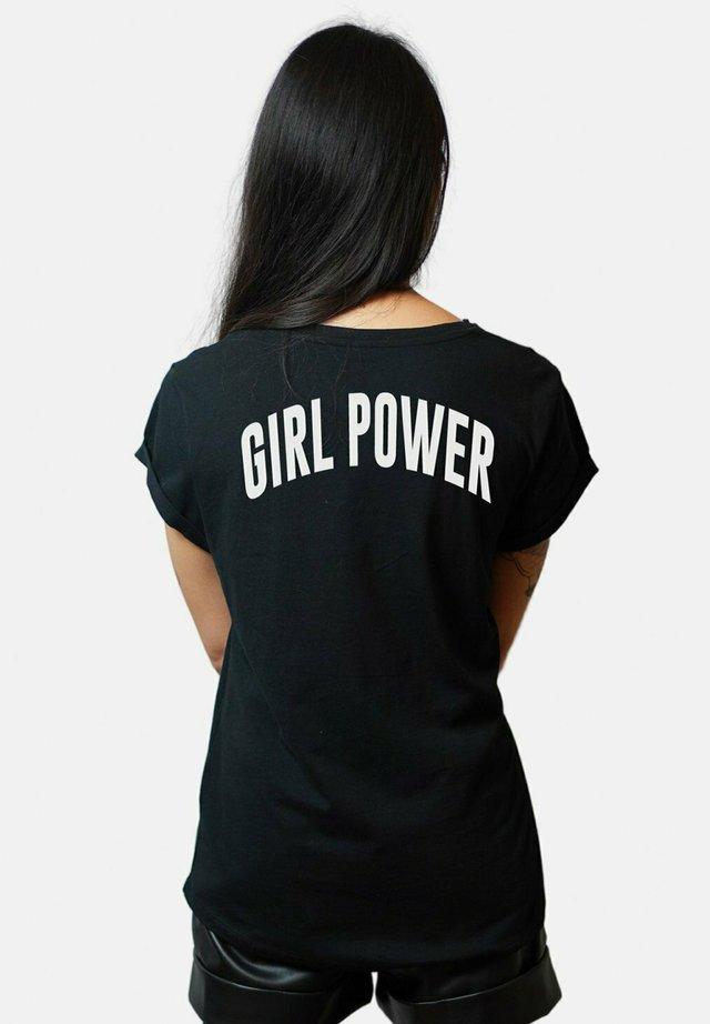 POWER BACK - T-shirt imprimé - black