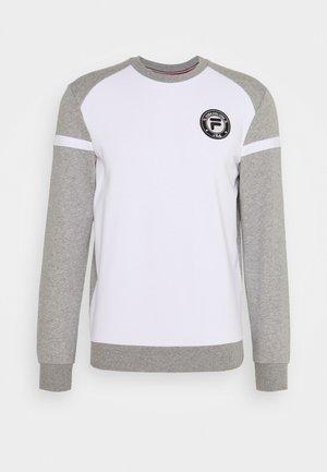 NILS - Sweatshirt - light grey melange/white