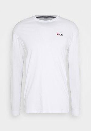 TEDOS TAPE LONG SLEEVE - Långärmad tröja - bright white