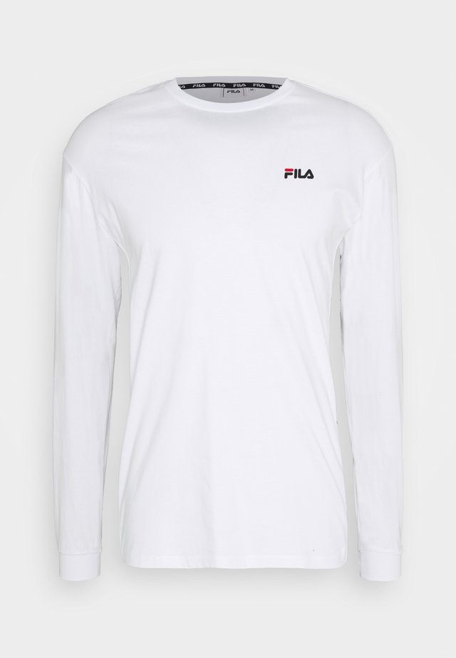TEDOS TAPE LONG SLEEVE - T-shirt à manches longues - bright white