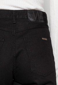 Nudie Jeans - LOFTY BLACK SOUL - Straight leg jeans - black soul - 4