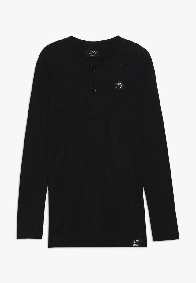 HAROLD - Top sdlouhým rukávem - black