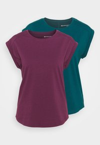 Even&Odd active - 2 PACK - T-shirt basic - purple/teal - 5