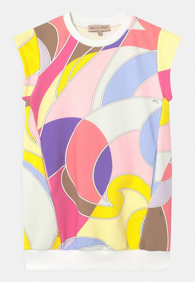 Korte jurk - giallo/viola
