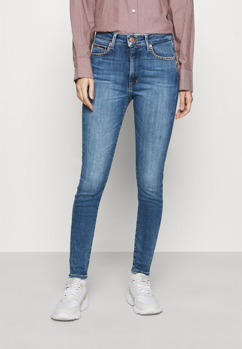 Tommy Jeans - SYLVIA HIGH RISE SKINNY ANKLE - Jeans Skinny Fit - harlow mid blue