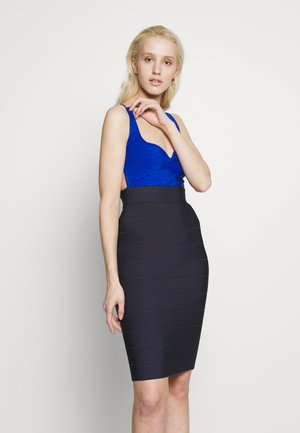 MIDI BANDAGE DRESS - Shift dress - blue