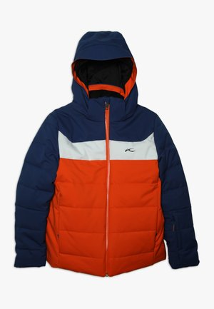 BOYS DOWNFORCE JACKET - Lyžařská bunda - orange/south blue