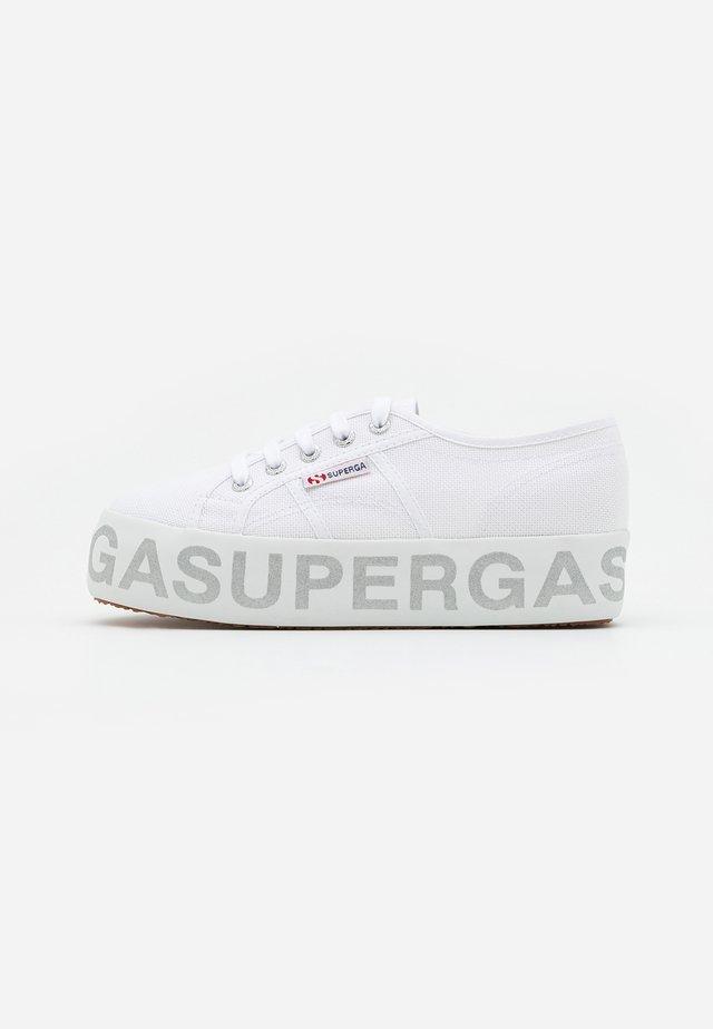 2790 GLITTERLETTERING - Sneakersy niskie - white/silver