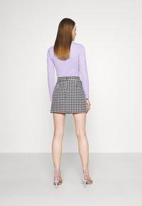 WAL G. - GEMMA DOG TOOTH SKIRT - Mini skirt - black/white - 2
