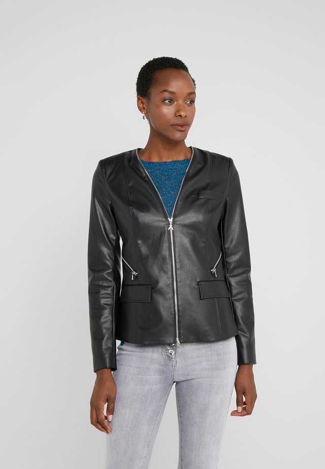 GIACCA JACKET - Giacca in similpelle - nero
