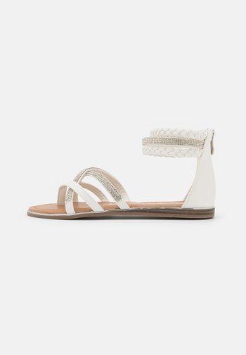 T-bar sandals - medusa bianco