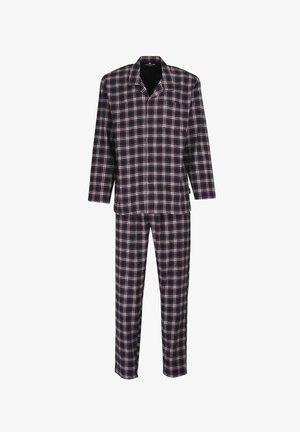 SET - Pyjama set - blue-dark-check