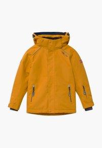 TrollKids - KIDS HOLMENKOLLEN SNOW JACKET PRO - Kurtka snowboardowa - golden yellow/mystic blue - 0