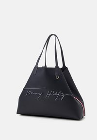 Tommy Hilfiger - ICONIC TOTE SIGNATURE SET - Shoppingveske - blue - 3
