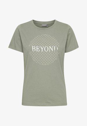FRPETEE 2  - Print T-shirt - mottled light green