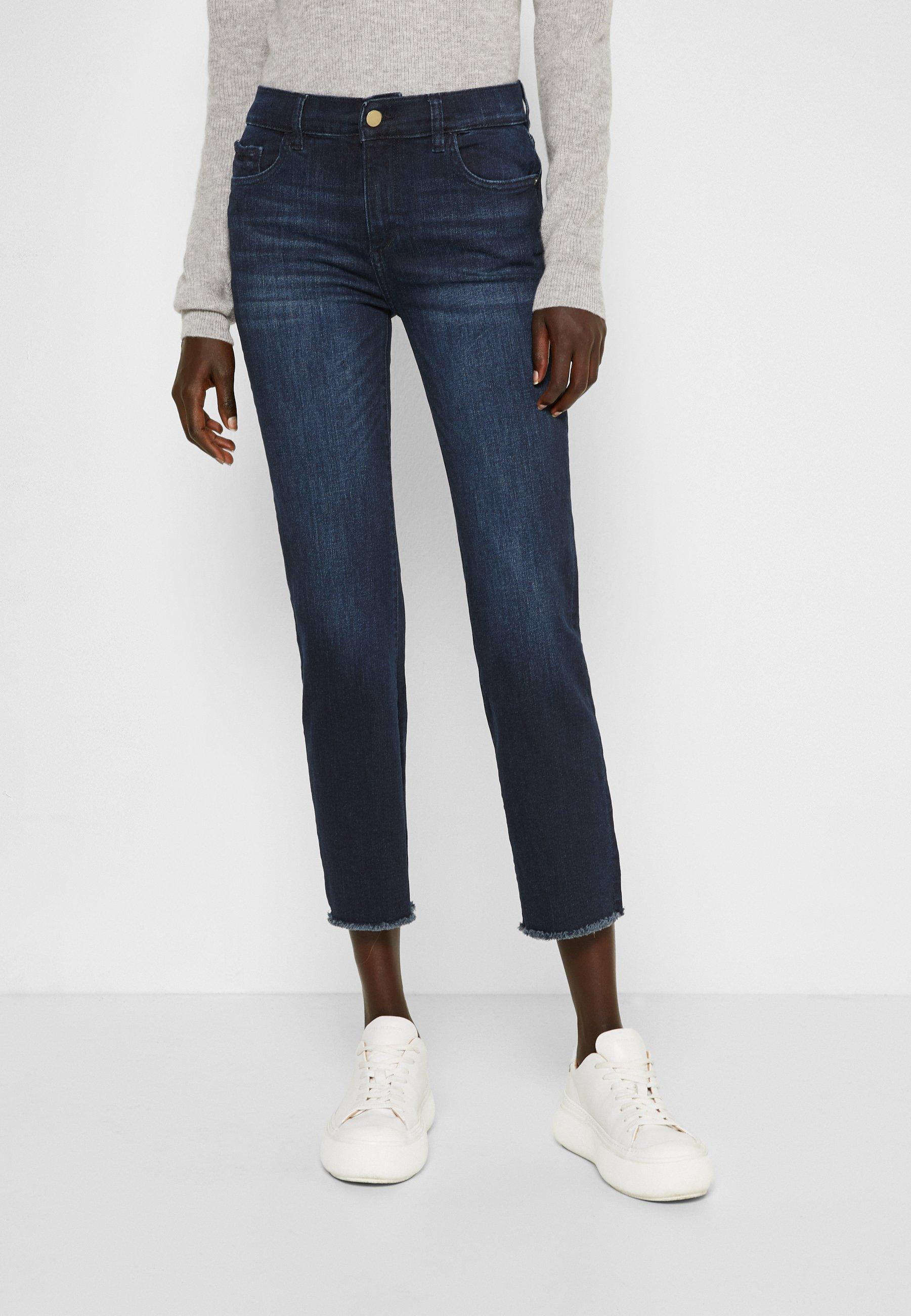 Women MARA MID RISE INSTASCULPT ANKLE - Straight leg jeans - mediterranean raw